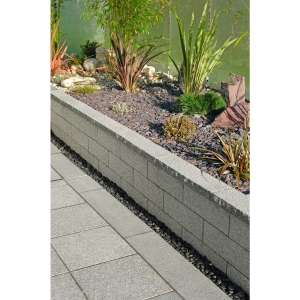 Marshalls Argent Dark Coping Coarse 600mm x 272mm x 50mm