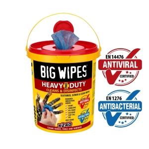 Big Wipes Antiviral Heavy-Duty Pro+ Bucket 240 Wipes