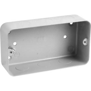 MK Grid Metal Flush Back Box 3-4 Gang with Knockouts