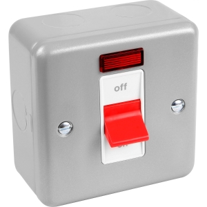 MK Metal Clad Dp 32A & 50A Switch 32A Neon