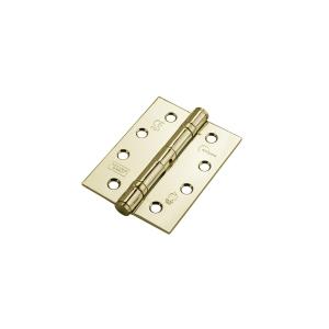 Eclipse 14933 Mild Steel Ball Bearing Hinge Grade 11 Electro Brass 102 x 76 x 2.7mm 2 Pack