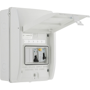 Bg Metal Shower Consumer Unit IP65 2 Way