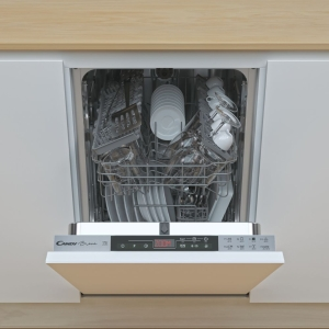Candy Cdih 2T1047-80 Slimline Integrated Dishwasher 9 Place Settings 45cm