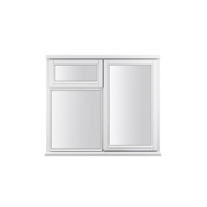 JELD-WEN Stormsure White Timber Window 3 Panel Right And Top Opening 910 x 895mm