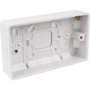 Bg Low Profile Moulded Surface Box 2 Gang 32mm