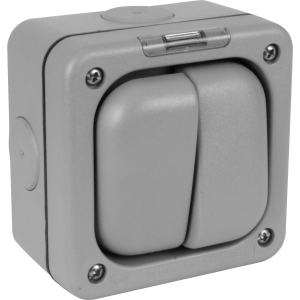 MK IP66 Masterseal Plus Switches 10A 2 Gang Sp 1 Way
