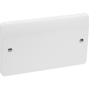 MK Blank Plate 2 Gang White