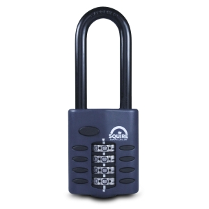 Squire Combination Padlock Chrome Plated 240 x 40 x 110mm