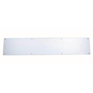 4TRADE Kicking Plate Satin Anodised Aluminium 750mm x 152mm 523493