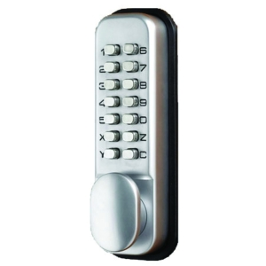 4Trade Digital Push Button Holdback Lock Satin
