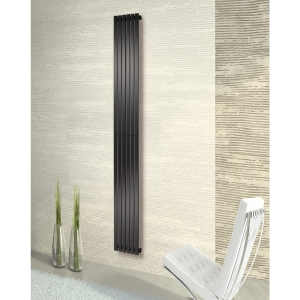 Towelrads Merlo Vertical Anthracite Radiator 1800mm