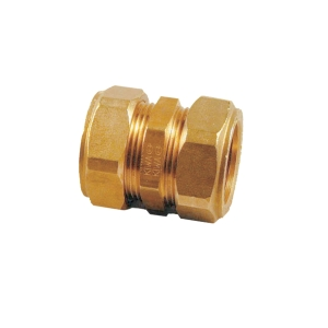 Compression Straight Coupling 15mm - Bag of 10