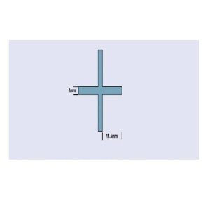 Genesis 536 3mm Wall Tile Spacers Cross Pack x 500