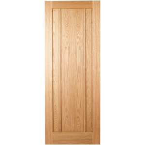 Hardwood Oak Ripon 3 Panel Internal Door