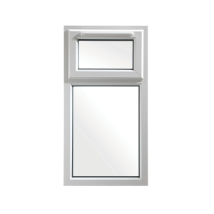 Euramax White Upvc Casement Window 2P Top Hung 610 x 1140mm