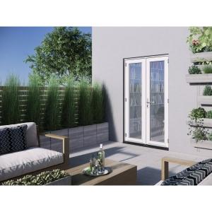 JELD-WEN Bedgebury Hardwood French Doors White Finish - 4ft
