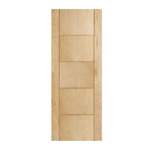 Internal Hardwood Oak Rockingham 5 Groove Door