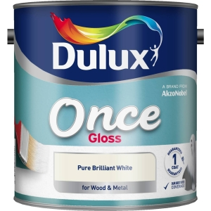 Dulux Once Gloss Paint Pure Brilliant White