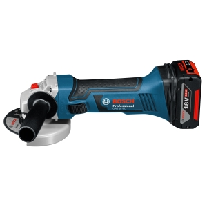 Bosch Gws 18V-LI 18V Angle Grinder with 2 x 5.0 Ah Batteries and Charger L-BOXX