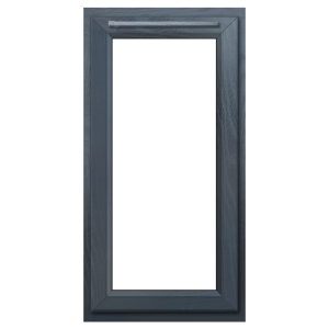 Euramax Grey Upvc Casement Window 1P Left Side Hung 610 x 1040mm