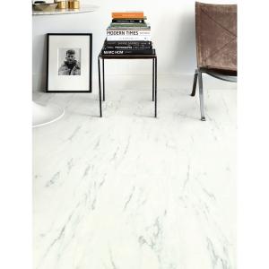 Quick Step Luxury Vinyl Tile Ambient Marble Carrara White 1300 X 320 X 4.5mm Pack Size 2.08m2