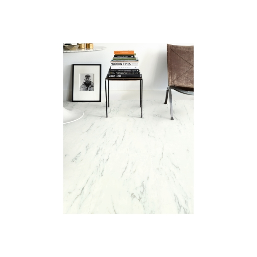 Quick Step Luxury Vinyl Tile Ambient Marble Carrara White 1300 X 320 X 4.5mm Pack Size 2.08m2