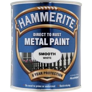 Hammerite Metal Paint Smooth White 750ml Hm
