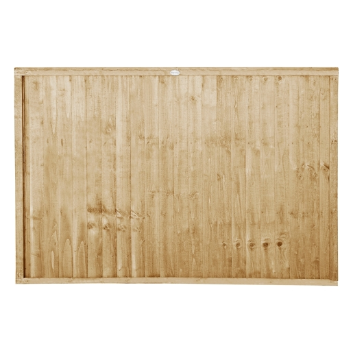 Pressure Treated Closeboard Fence Panel 6ft x 4ft 1.83m x 1.22m Pack 5
