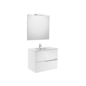 Victoria-n Pack 700 2 Drawer Gloss White