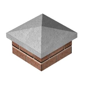 Supreme Concrete Pier Cap 455mm x 455mm - Pack of 10
