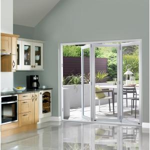 Slimline External Pre-finished White Bifold Door Set