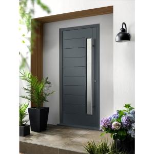 Stockholm Ultimate External Grey Front Door with Outer Frame
