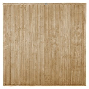 Pressure Treated Closeboard Fence Panel 6ft x 6ft 1.83m x 1.83m Pack 4