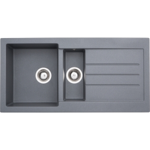 Abode Xcite 1.5 Bowl Inset Grey Composite Kitchen Sink