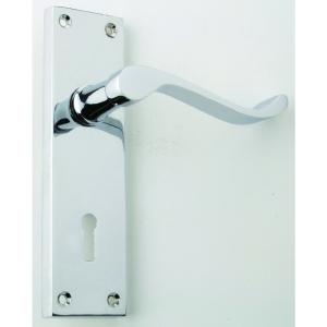 4Trade Scroll Lever Lock Furniture Chrome