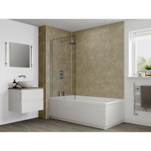 Multipanel Classic Bathroom Wall Panel Hydrolock Travertine M3526