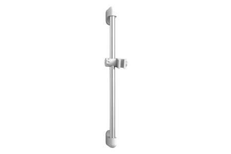 iflo Chrome & White Shower Riser Rail 650mm