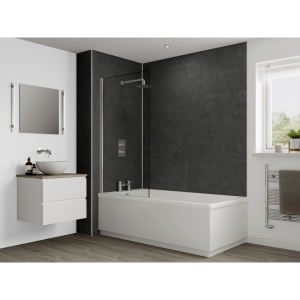 Multipanel Classic Bathroom Wall Panel Hydrolock 2400 x 900mm Riven Slate 2859