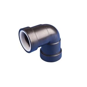 Osma Waste 90¡ push-fit knuckle bend black 32mm