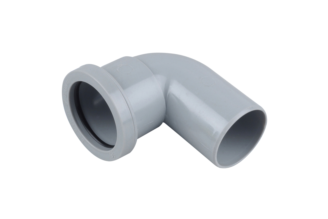 Osma Waste 90¡ push-fit spigot bend grey 40mm