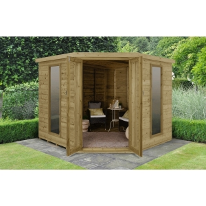 Arlington Premium Tongue & Groove 8 x 8 Corner Summerhouse
