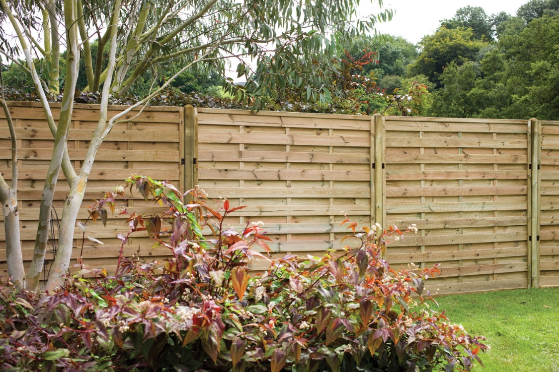 Pressure Treated Decorative Europa Plain Fence Panel 1.8m x 1.5m - Pack of 3