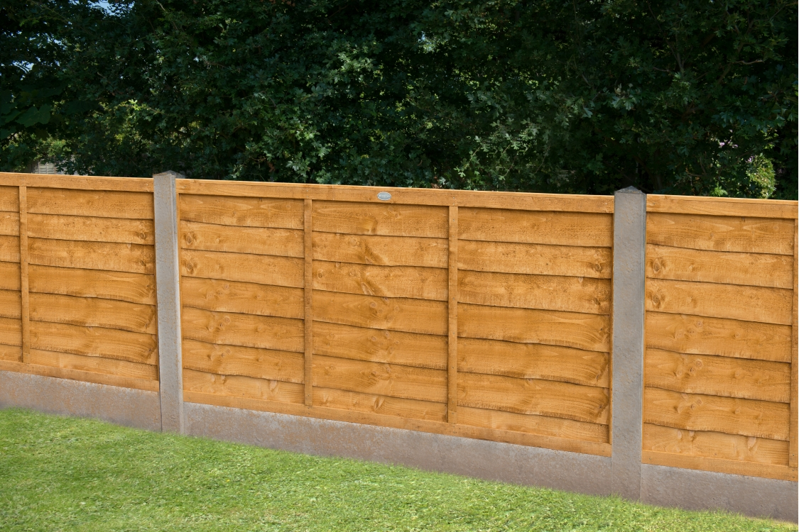 Trade Lap Dip Treated Fence Panel 6ft x 4ft (1.83m x 1.22m)