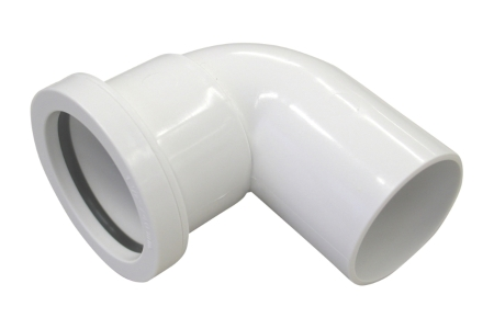 Osma 40mm Pushfit Waste White Spigot Bend 90 Deg