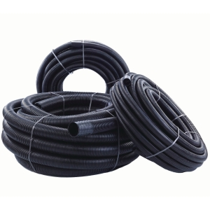 Polypipe Twinwall Black Cable Protection Ducting 40/63 50m Coil
