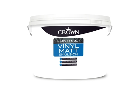 Crown Contract Crown Vinyl Matt Magnolia 10 Liters