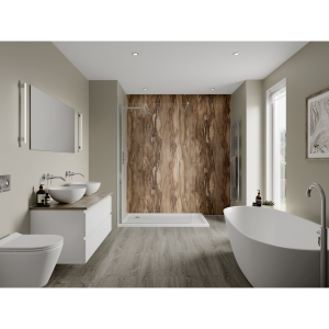 Multipanel Linda Barker Bathroom Wall Panel Hydrolock 2400 x 900mm Dolce Macchiato 3478