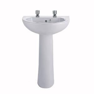 Twyford Option Washbasin 2 Tap 550mm x 450mm  OT4212WH