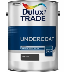 Dulux Paint Trade Undercoat Paint Dark Grey 5L