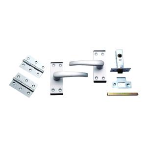 4Trade Oxford Complete Latch Door Pack of Satin Anodised Aluminium